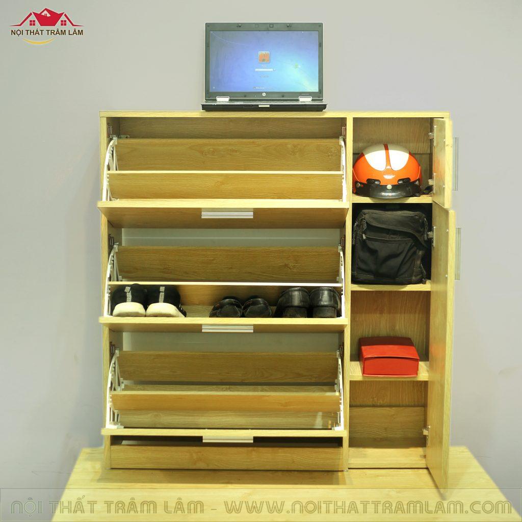 Tủ giầy gỗ thông minh TG1 Nội thất Trâm Lâm (Ảnh 3)