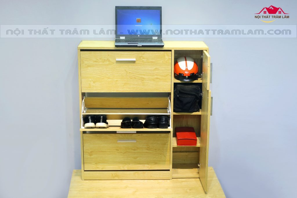 Tủ giầy gỗ thông minh TG1 Nội thất Trâm Lâm (Ảnh 2)