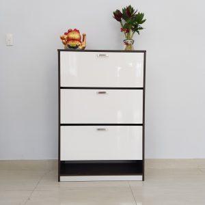 Tủ giày nhựa viền đen trắng TNDT1 Nội thất Trâm Lâm (Ảnh 2)
