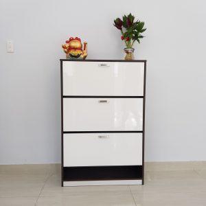 Tủ giày nhựa viền đen trắng TNDT1 Nội thất Trâm Lâm (Ảnh 3)