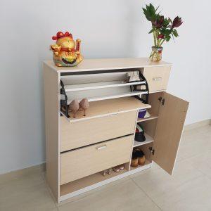 Tủ giầy thông minh nhựa Đài Loan TN3 Nội thất Trâm Lâm (Ảnh 3)