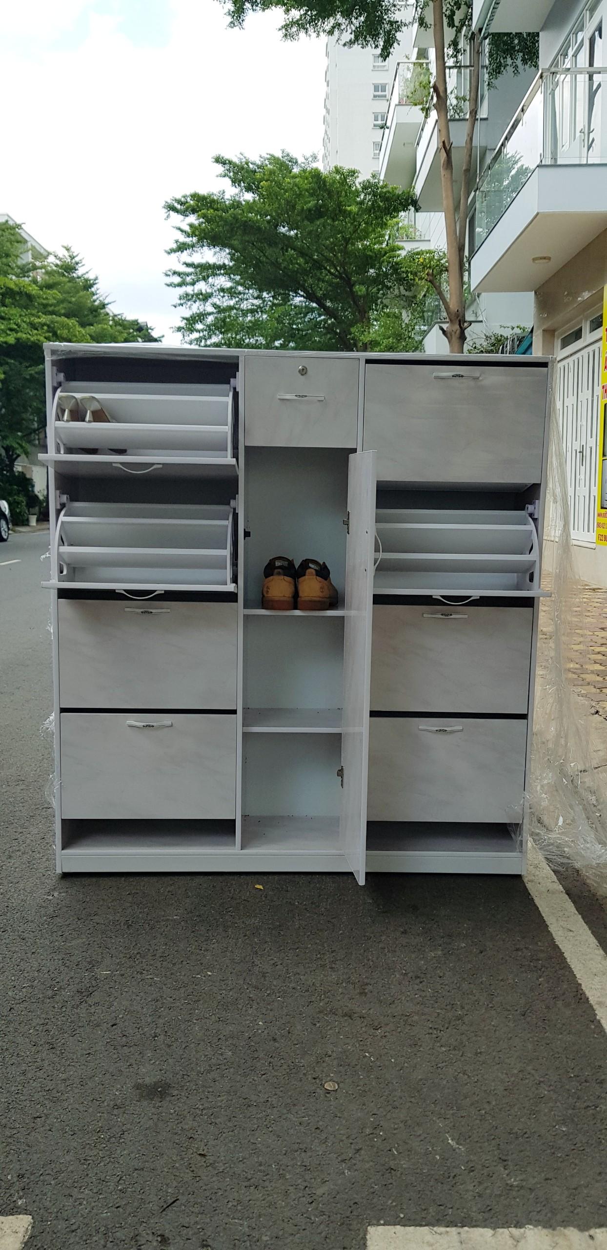 Tủ giày nhựa đá lớn Nội thất Trâm Lâm (Ảnh 1)