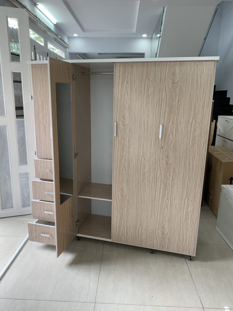 Tủ quần áo 4 cánh nhựa Đài Loan TQAS4C Nội thất Trâm Lâm (Ảnh 1)