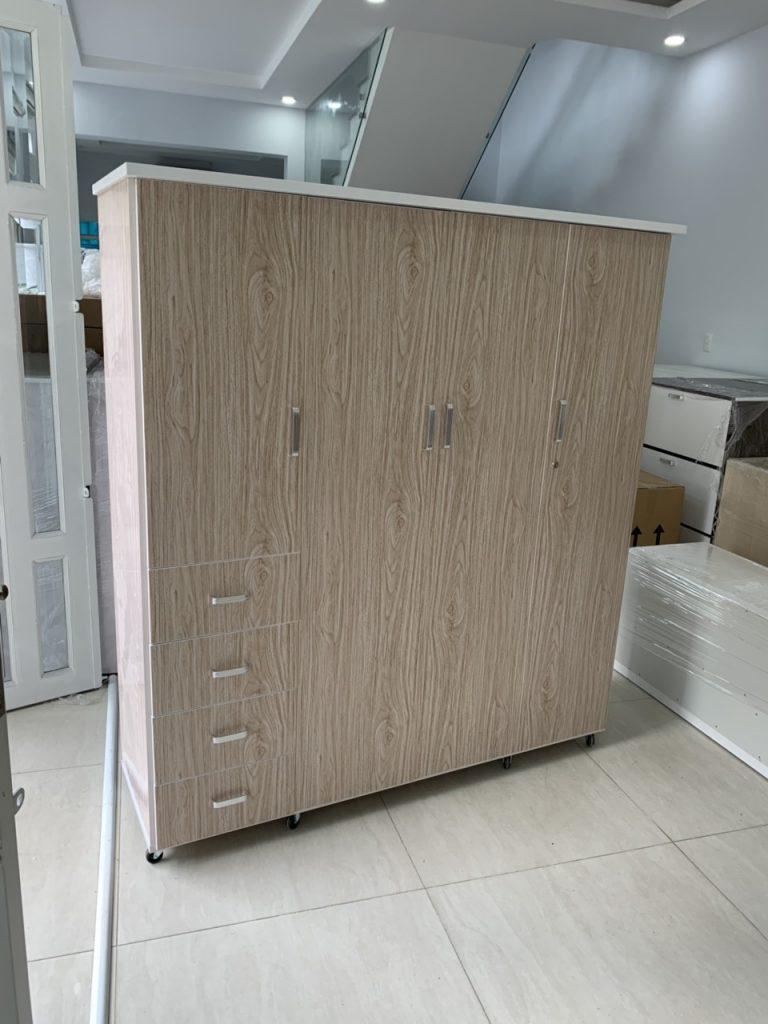 Tủ quần áo 4 cánh nhựa Đài Loan TQAS4C Nội thất Trâm Lâm (Ảnh 3)