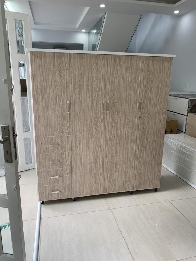 Tủ quần áo 4 cánh nhựa Đài Loan TQAS4C Nội thất Trâm Lâm (Ảnh 4)