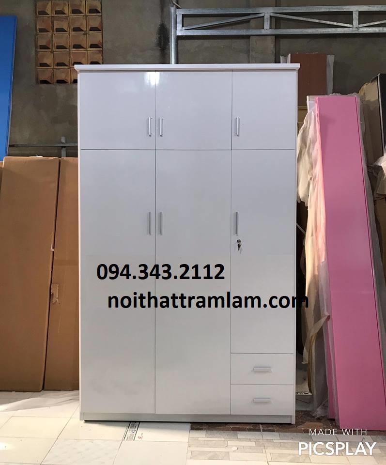 Tủ quần áo nhựa TQAN220 Nội thất Trâm Lâm (Ảnh 1)